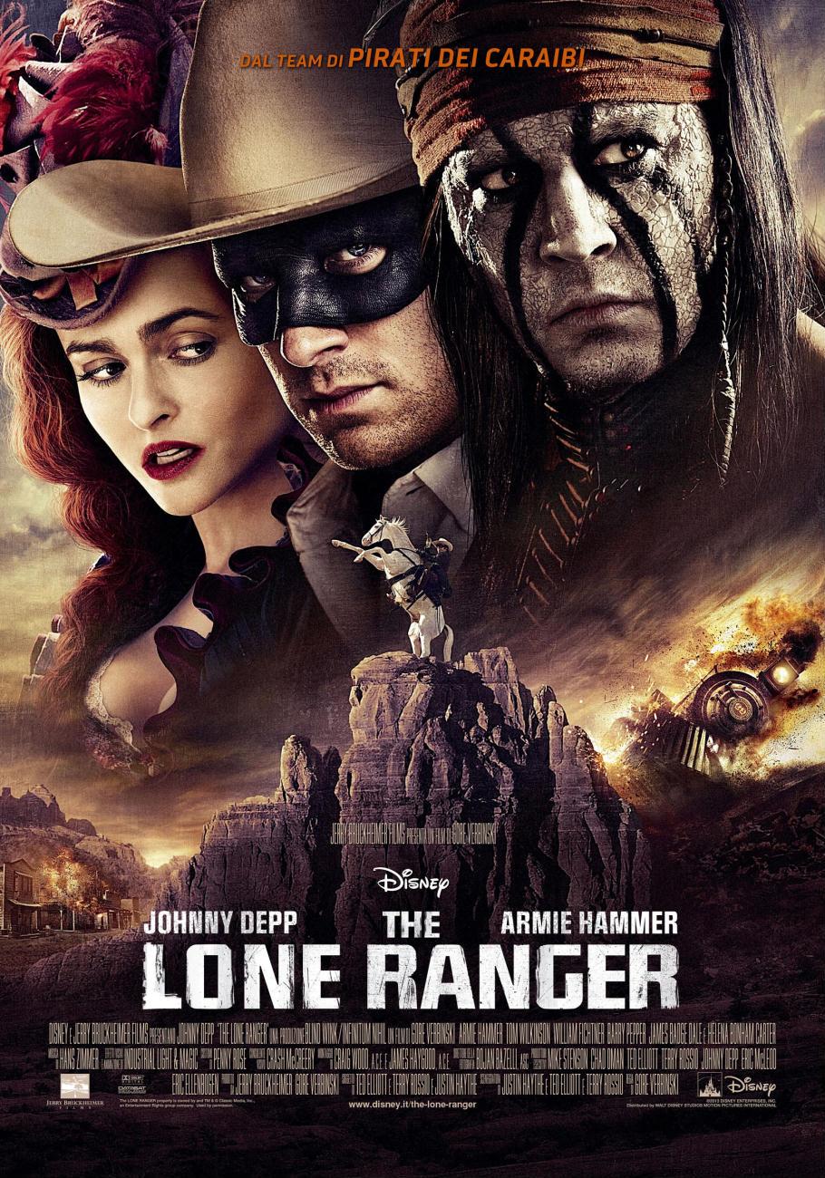 divertente western di Gore Verbinski, The Lone Ranger (2013